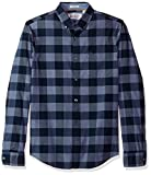 Original Penguin Men's P55 End Plaid Shirt, Vintage Indigo, Extra Extra Large