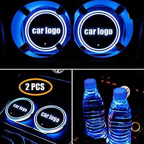 Choisissez Votre Voiture KINBEAR Porte-gobelet LED Voiture Porte-Tasse 7 Couleurs USB l/éger Chargeur Porte-Boisson pour Voiture LED d/écoration int/érieure lumi/ère