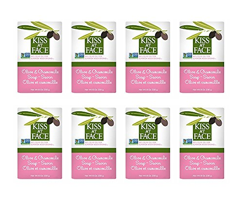 Chamomile Face (Kiss My Face Moisturizing Bar Soap, Olive and Chamomile, 8 oz Bars, (pack of 8))
