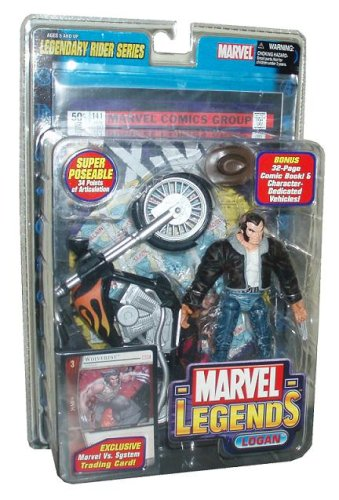 Marvel Legends  Legendary Riders Series  Logan Action Figure (Variant)