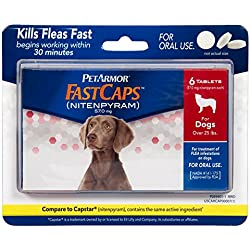 PetArmor FastCaps (nitenpyram) Oral Flea Control Medication, 25 lbs and Over, 6 count