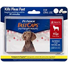 PetArmor FastCaps (nitenpyram) Oral Flea Control Medication, 25 lbs and Over, 6 count