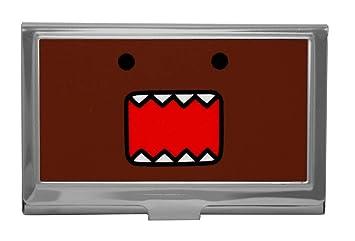 Amazon domo kun face japan reflective metal id business card domo kun face japan reflective metal id business card holder colourmoves