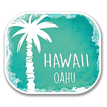 Hawaii oahu decals stickers two packcars trucks vans walls