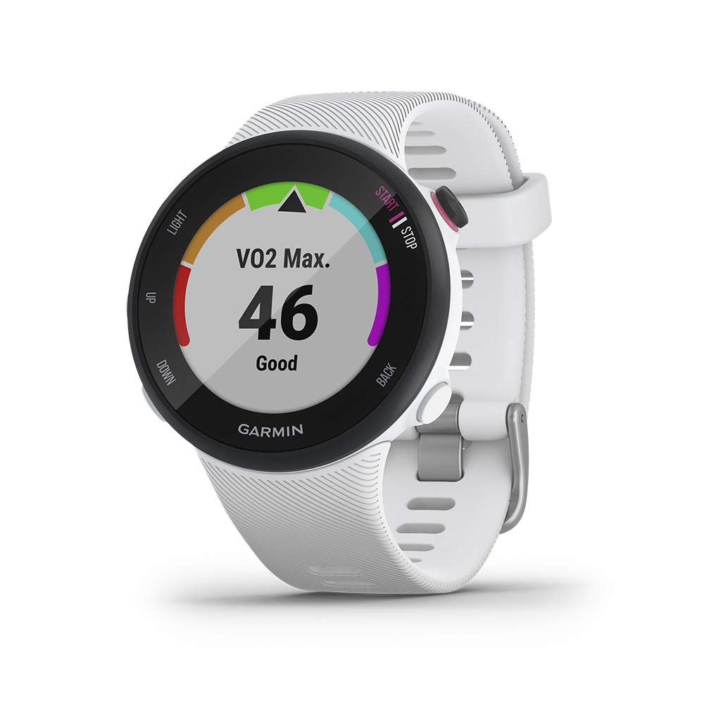 Garmin Forerunner 45s, 39MM Easy-to-Use GPS Running Watch with Garmin Coach Free Training Plan Support, White by Garmin