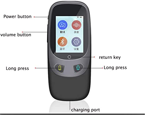 Traductor de idiomas pantalla LCD IPS de 2.4 pulgadas WIFI port/átil Voz inteligente Traductor de dialecto global para viajar al extranjero Aprendizaje Compras Chat de negocios Compras Traductor en ti