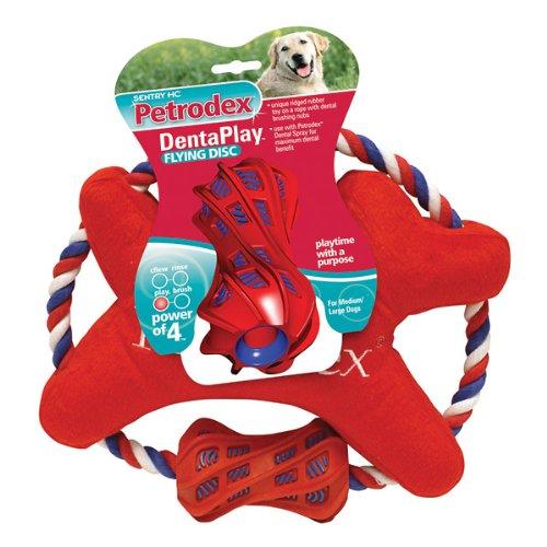 UPC 048476510371, Petrodex Dentaplay Dental Fabric Flying Disc with Brushing Sleeve