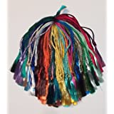 100 Assorted Colors Rayon Bookmark Tassels