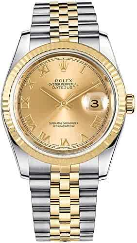 Rolex Datejust 36 Yellow Rolesor Jubilee Bracelet Luxury Watch Ref. 116233