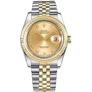 Best Epic Trends 51raaEqYHJL._SS300_ Rolex Datejust 36 Yellow Rolesor Jubilee Bracelet Luxury Watch Ref. 116233
