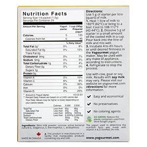 Yogourmet Freeze Dried Yogurt Starter – 1 oz