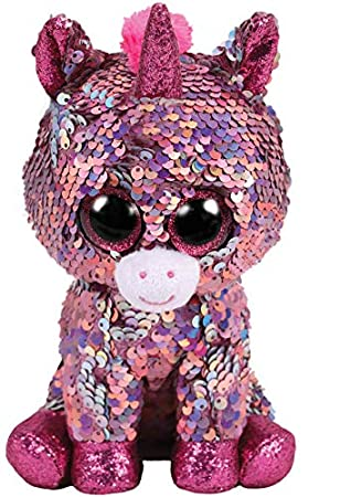 44c03a35ccf Ty Flippables 36266 Sparkle the Unicorn Sequin Soft Toy  Amazon.co ...