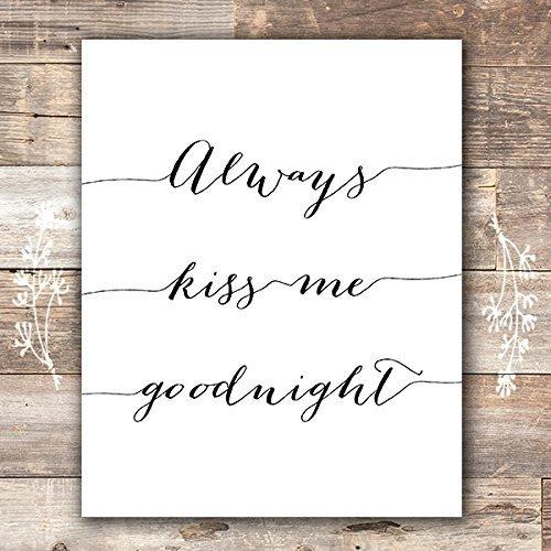 always kiss me goodnight framed wall art