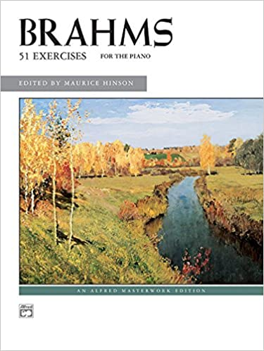 Brahms -- 51 Exercises (Alfred Masterwork Editions) by Johannes Brahms (Composer), Maurice Hinson (Editor) (1-Dec-1985)