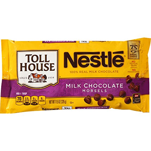 Nestle TOLL HOUSE Milk Chocolate Morsels 11.5 oz. Bag by Toll House