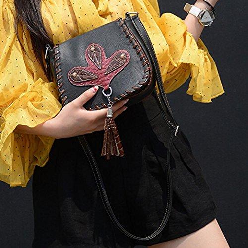 de Glands en Sac Messenger bandoulière épaule à féminine Noir téléphone Mode cuir ESAILQ Sac ITxZPqP
