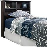 Sauder 419449 Headboard, Bed Room Bookcase, Twin, Estate Black