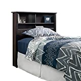 Sauder 419449 Headboard, Bed Room Bookcase, Twin, Estate Black