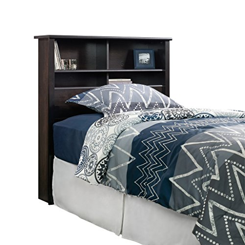 Sauder 419449 Headboard, Bed Room Bookcase, Twin, Estate Black by Sauder