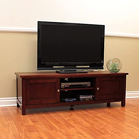 DonnieAnn Oakdale Cherry TV Stand - Cherry Finished Tv Stand