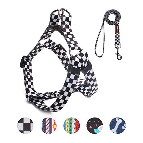 eash Set, Adjustable Heavy Duty Pulling Halter Harnesses Small Breed Dogs, Back Clip, Anti-Twist, Perfect Walking (S(14