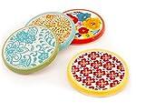 Pioneer Woman Flea Market Coasters - Set of 4 - Colorful Florals