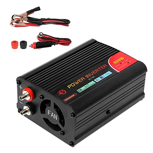 Kavas - 600W Power Inverter DC 12V to 220V AC Cars Inverter with Car Adapter & USB Port