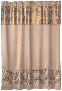 Popular Bath Mosaic Stone Bronze Shower Curtain
