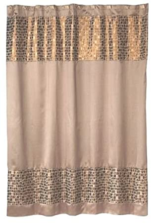 Amazon Popular Bath Mosaic Stone Bronze Shower Curtain Home Kitchen