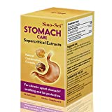 Sino-Sci Stomach Care 500mg 30 Counts 100% Organic Natural Sea Buckthorn Seed Oil Proplolis Extract Daily Digestive Wellness Chronic Heartburn Acid Reflux Relief Immunity Support No Added Color