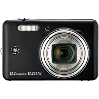 GE 1255W-BK 12MP Digital Camera with 5X Optical Zoom and 3.0-Inch LCD Screen with Auto Brightness (Black) Basic Facts Review Image