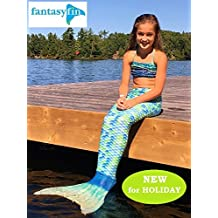 NEW FROM FANTASY FIN! SWIMMABLE MERMAID TAIL WITH NEOPRENE SOCK MONOFIN - CARIBBEAN WAVES