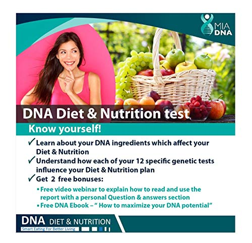 MiaDNA Genetic Home DNA Test Kit for Diet & Nutrition ! Leverage Personal Genetic Testing to Uncover Your Dietary…