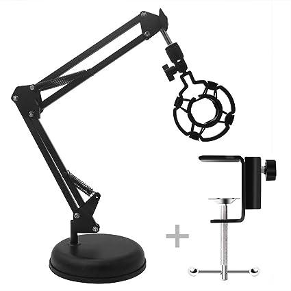 Soporte de micrófono ajustable para escritorio con soporte de ...