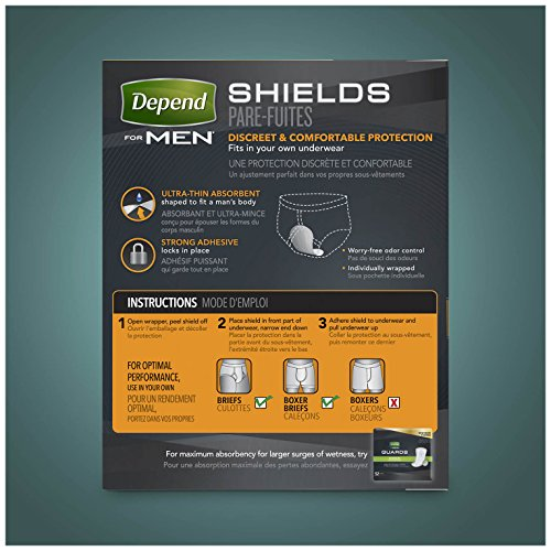 Depend Incontinence Shields for Men, Light Absorbency, (Packaging May Vary) by Depend (Image #11)