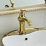 RTLJNSLT Faucet Stainless Steel Faucet Wall-Mounted Bathtub Faucet Modern Brass Faucet Gold Copper European hot and Cold Taipan Basin Basin Faucet Antique Bathroom Cabinet Faucet washbasin