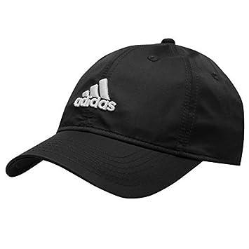 adidas - Gorra para adolescente, pico flexible, correa de cierre con velcro, negro, hombres: Amazon.es: Deportes y aire libre
