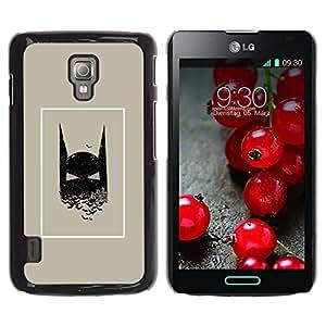 For LG Optimus L7 II P710 / L7X P714 Case , Movie Comic Character Man Poster - Diseño Patrón Teléfono Caso Cubierta Case Bumper Duro Protección Case Cover Funda