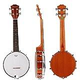 Kmise Banjo Ukulele 4 String Concert Banjos Sapele Aquila String Flying Bird Dots …
