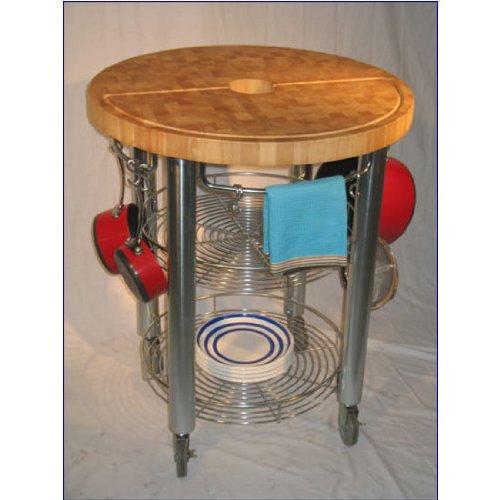 Chris U0026 Chris Jet1222 Round Stadium Kitchen Work Station, 30 By 36 Inch