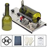 millet16zjh Bottle Cutter,Glass Stainless Steel Bottle Cutter Planting Machine with Abrasive Paper Gloves