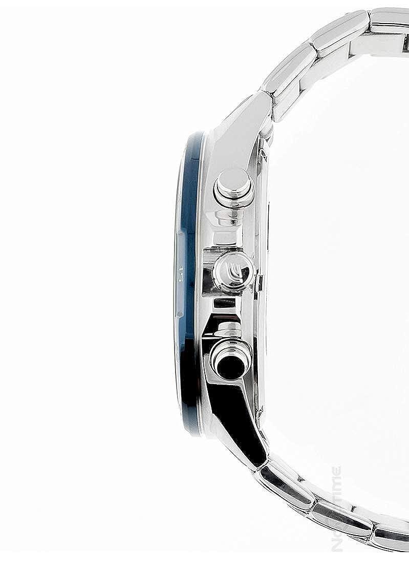 Casio Reloj Cronógrafo para Hombre de Cuarzo con Correa en Acero Inoxidable EFR-556DB-2AVUEF: Amazon.es: Relojes