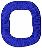 "[Single Count] Custom and Unique (2"" Inch) Small Monogram Initial School Sports Letterman Jacket Alphabet Letter O Bold Plain Solid Block Font Design Iron On Embroidered Applique Patch {Blue Color}"