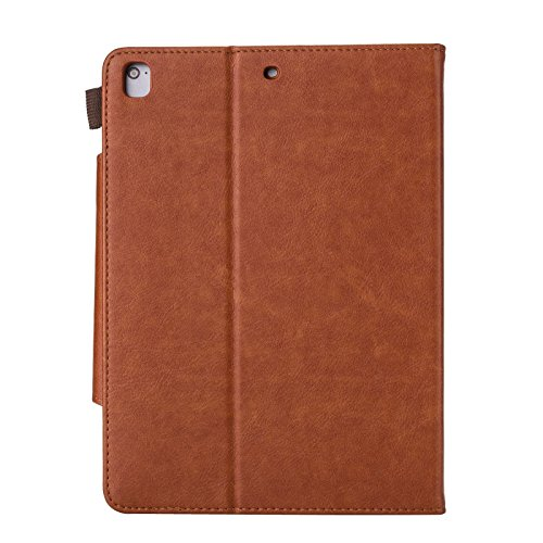 iPad mini 1/2/3 Case - Folio Slim Fit Stand Case with Smart Cover, Auto Sleep/Wake Feature for Apple iPad mini 1/iPad mini 2/iPad mini 3, Brown by JZCreater (Image #2)