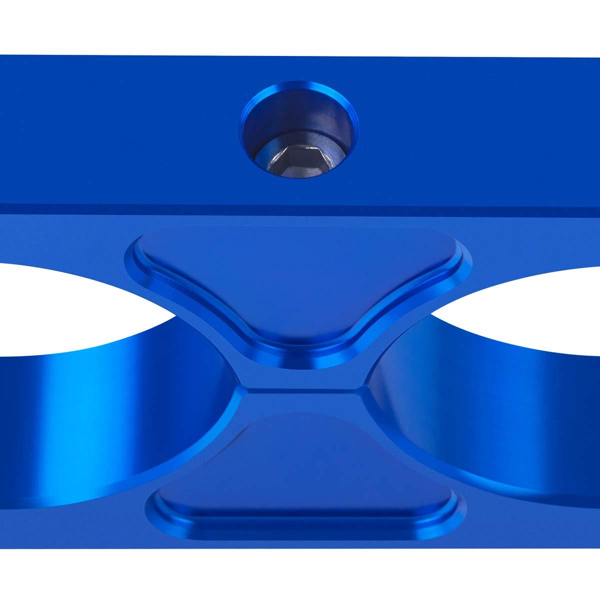 Blue Universal Billet T6 Aluminum Coilover Reservoir Brackets Supreme Suspensions