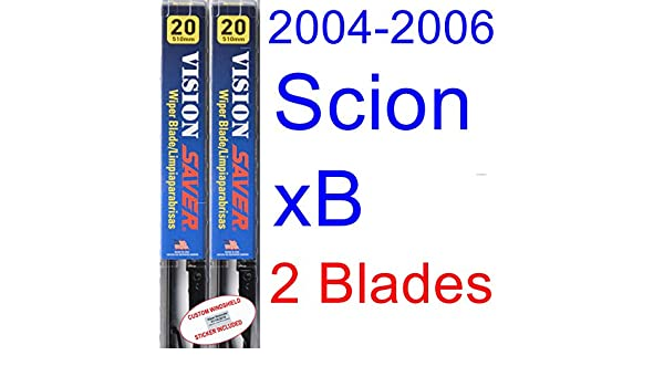 Amazon.com: 2004-2006 Scion xB Replacement Wiper Blade Set/Kit (Set ...