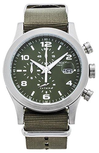 LOCMAN watch ISLAND 0618A03-00GRWHNG Men's