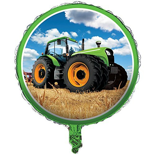 Creative Converting 318057 Tractor Time Foil Balloon, 18