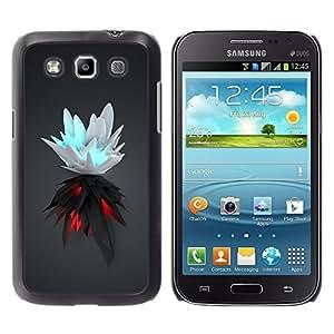 LECELL -- Funda protectora / Cubierta / Piel For Samsung Galaxy Win I8550 I8552 Grand Quattro -- White & Black Splash --