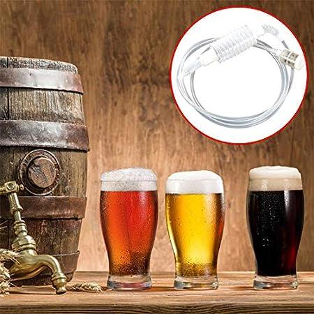 Tubo Sifón Cerveza, 2 Piezas Manguera Sifón Cerveza, Filtro Manguera Tubo Sifón, Tubo Filtro Sifón Vino, Tubo Sifón Casera, Tubo Filtro Sifón Cerveza, Tubo Sifón Reutilizable, con Filtro, 1.9m/6.23ft